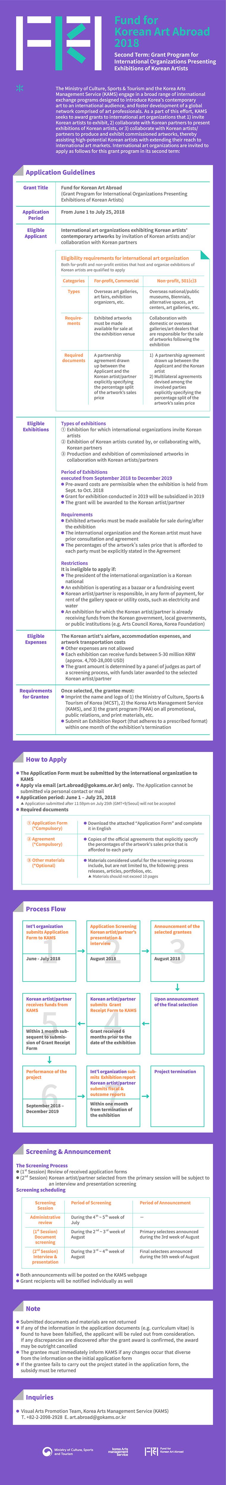 해외기관 초청·협력 전시 지원 2차 공모