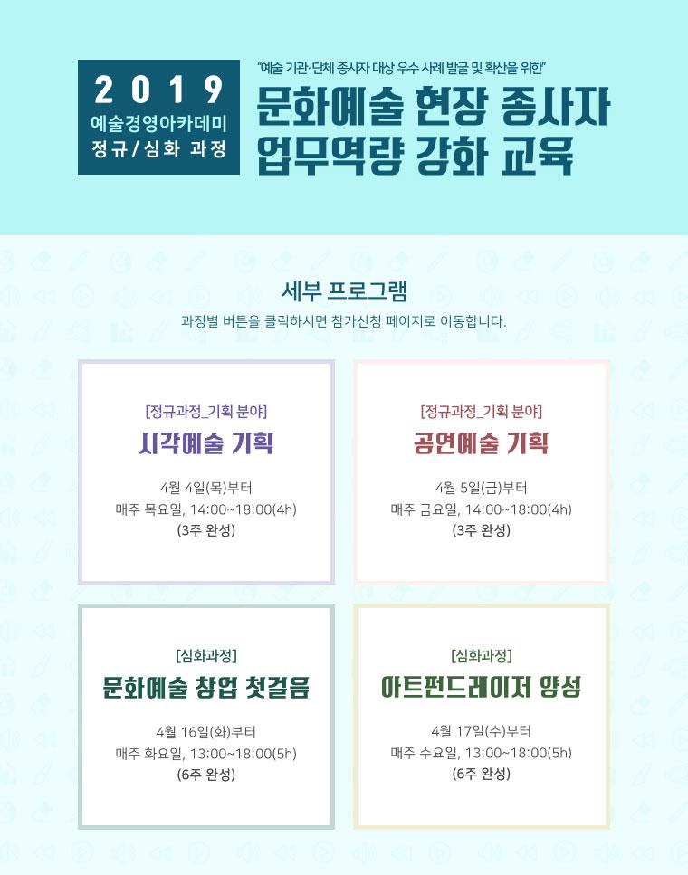 2019 예술경영아카데미 정규괴정