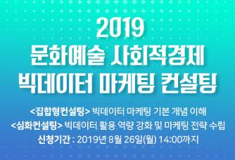 2019 문화예술 사회적경제 빅데이터 마케팅 컨설팅
